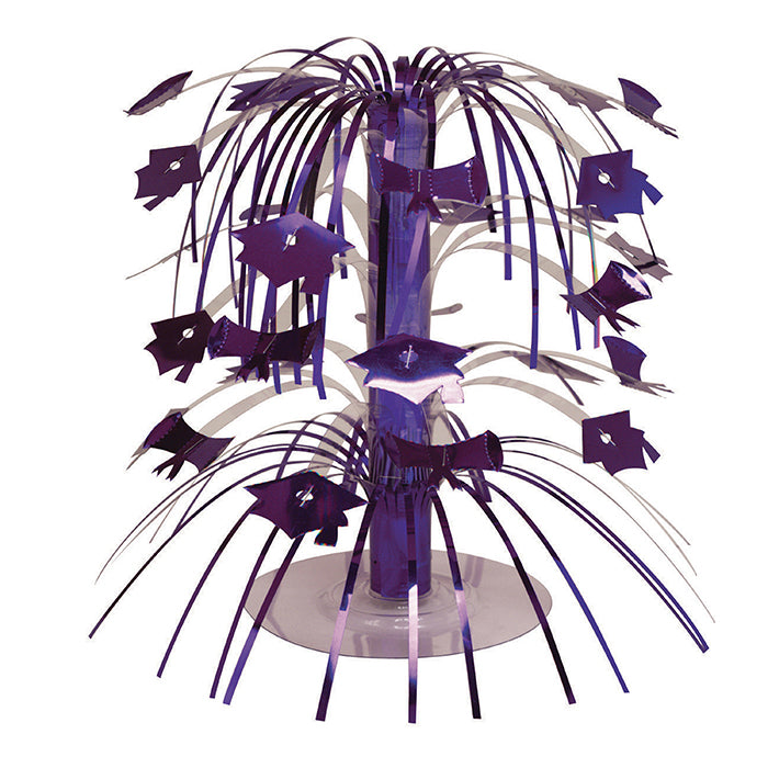 Purple Mortarboard Graduation Centerpiece by Creative Converting