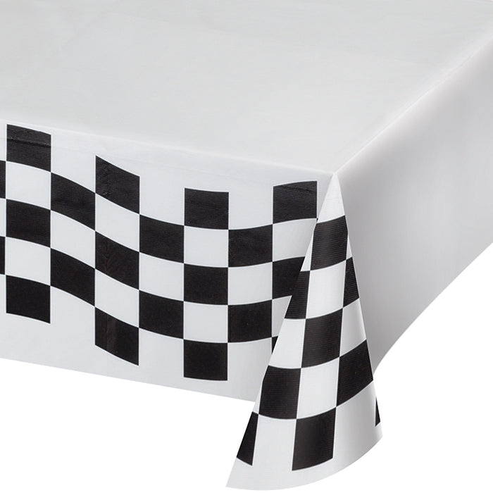 "Black And White Check Paper Tablecloth, 54"" X 102"" by Creative Converting"