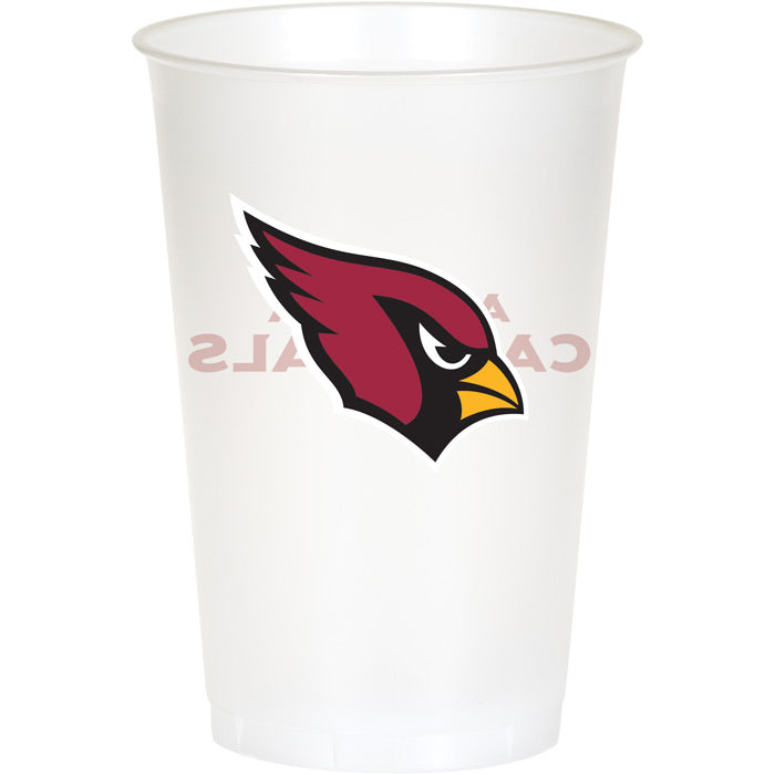 Arizona Cardinals Plastic Cup, 20Oz, 8 ct by Creative Converting