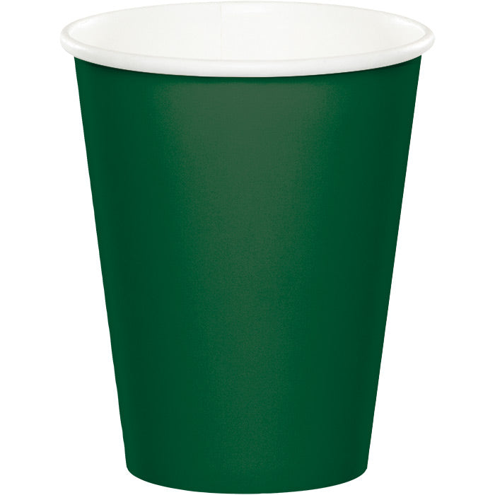 Hunter Green Hot/Cold Paper Cups 9 Oz., 24 ct by Creative Converting