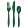 Hunter Green Assorted Plastic Cutlery, 24 ct by Creative Converting