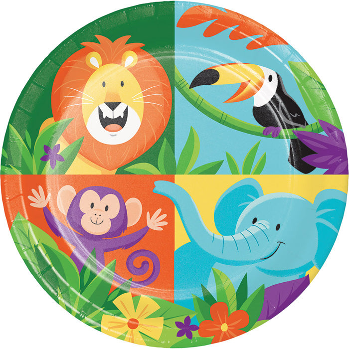 Jungle Safari Dessert Plates, 8 ct by Creative Converting