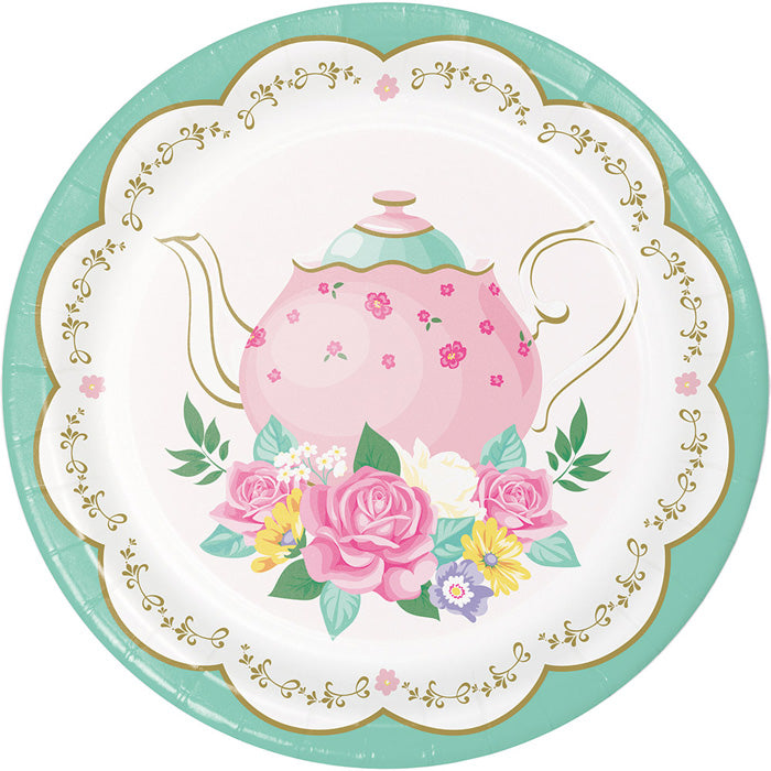 Floral Tea Party Dessert Plates, 8 ct by Creative Converting