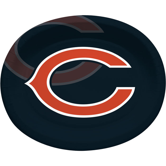"Chicago Bears Oval Platter 10"" X 12"", 8 ct by Creative Converting"
