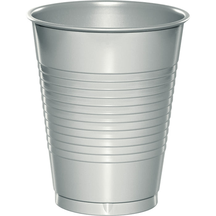 Shimmering Silver Plastic Cups, 20 ct by Creative Converting
