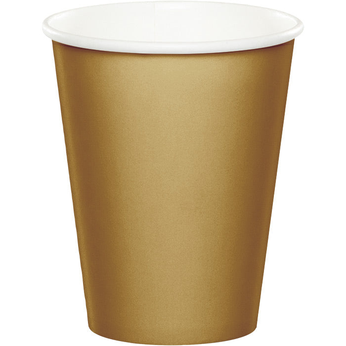 Glittering Gold Hot/Cold Paper Cups 9 Oz., 24 ct by Creative Converting
