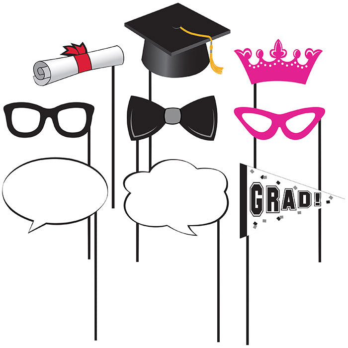 Graduation Photo Props, 10 ct by Creative Converting