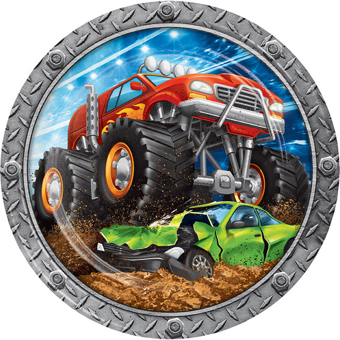 Monster Truck Rally Paper Plates, 8 ct by Creative Converting