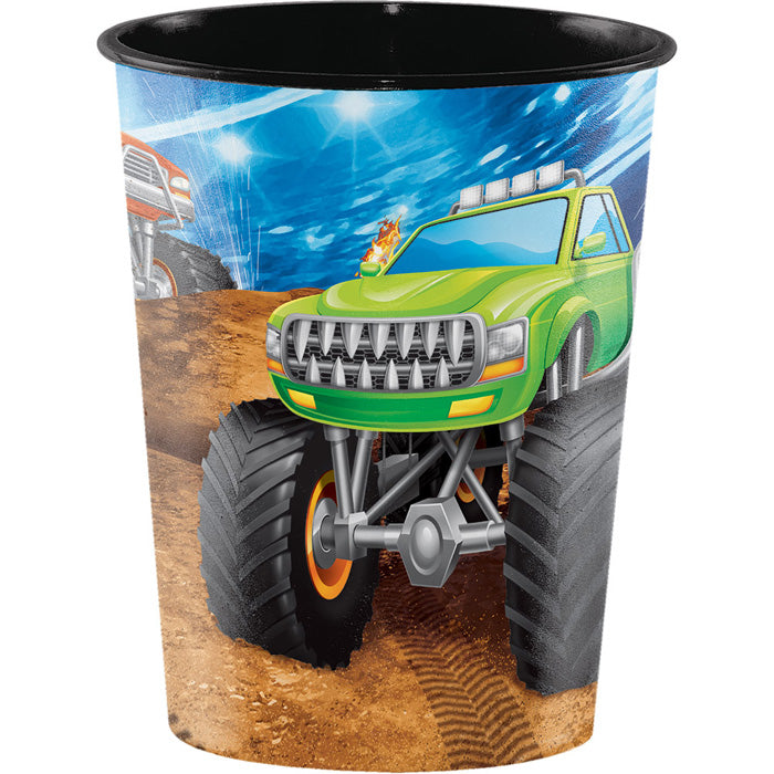Monster Truck Rally Plastic Keepsake Cup 16 Oz. by Creative Converting