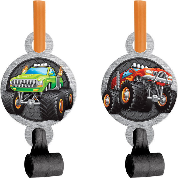 Monster Truck Rally Blowouts W/ Med, 8 ct by Creative Converting
