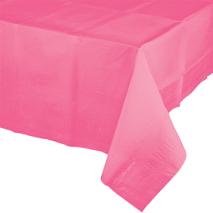 "Candy Pink Tablecover 54""X 108"" Polylined Tissue by Creative Converting"