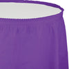 "Amethyst Plastic Tableskirt, 14' X 29"" by Creative Converting"