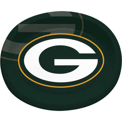 "Green Bay Packers Oval Platter 10"" X 12"", 8 ct by Creative Converting"
