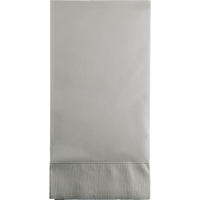 Shimmering Silver Guest Towel, 3 Ply, 16 ct by Creative Converting