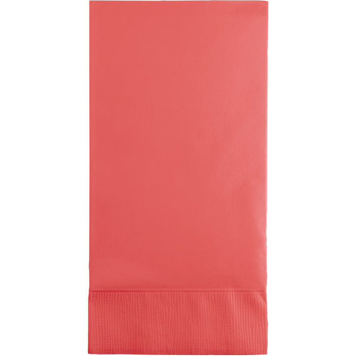 Coral Guest Towel, 3 Ply, 16 ct by Creative Converting