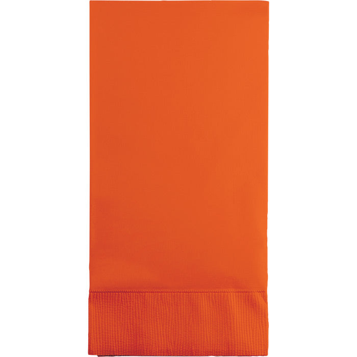 Sunkissed Orange Guest Towel, 3 Ply, 16 ct by Creative Converting