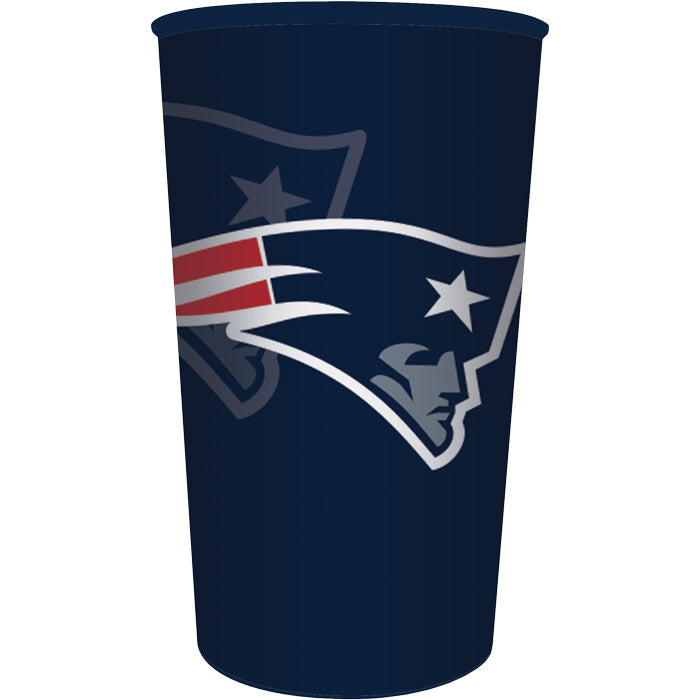 New England Patriots Plastic Cup, 22 Oz by Creative Converting