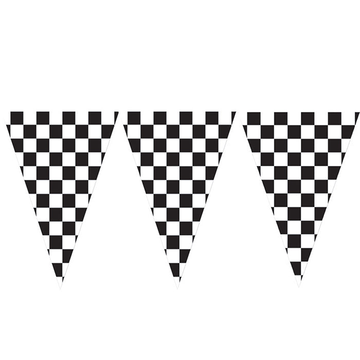 Black And White Check Flag Banner, 20 Ft. by Creative Converting