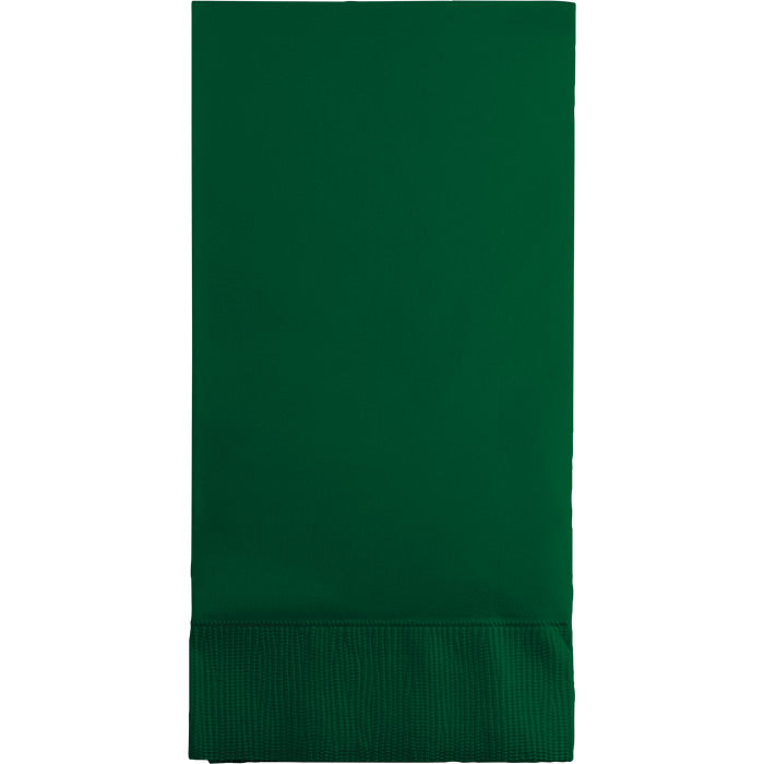 Hunter Green Guest Towel, 3 Ply, 16 ct by Creative Converting
