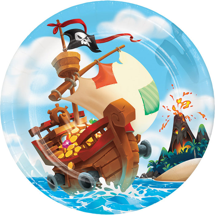 Pirate Treasure Paper Plates, 8 ct by Creative Converting