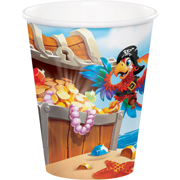 Pirate Treasure Hot/Cold Paper Paper Cups 9 Oz., 8 ct by Creative Converting