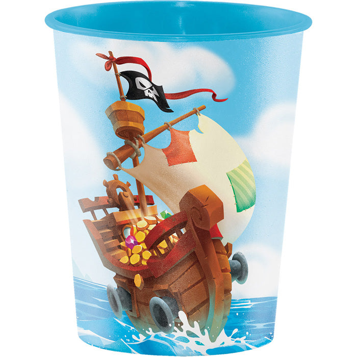 Pirate Treasure Plastic Keepsake Cup 16 Oz. by Creative Converting