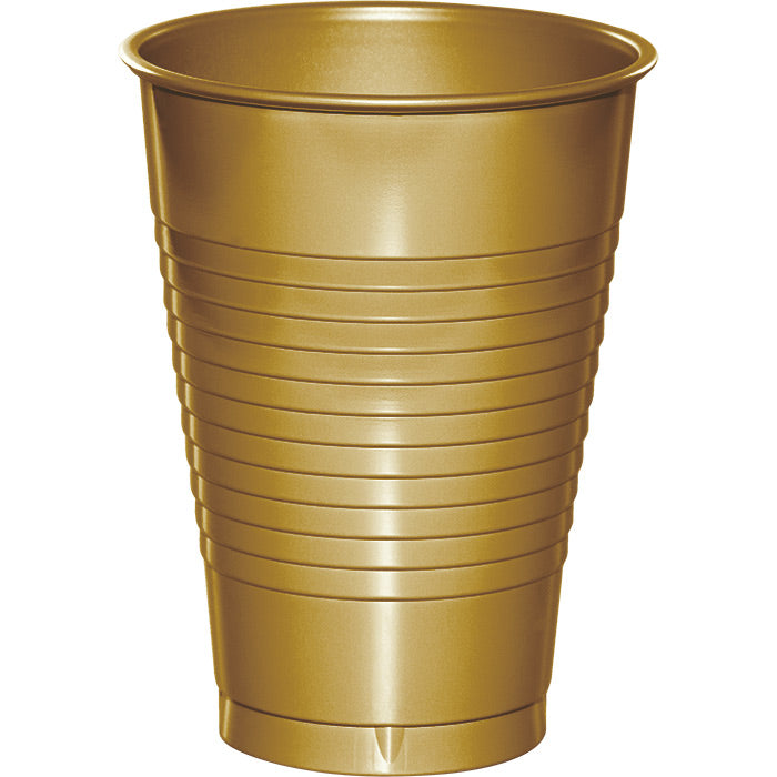 Glittering Gold 12 Oz Plastic Cups, 20 ct by Creative Converting