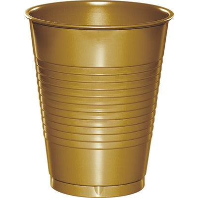 Glittering Gold Plastic Cups, 20 ct by Creative Converting