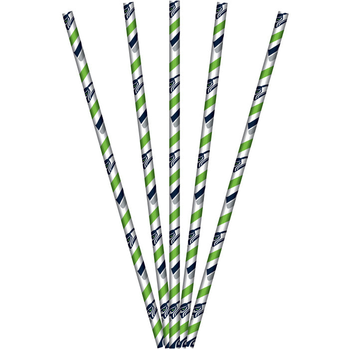 Seattle Seahawks Paper Straws, 24 ct by Creative Converting