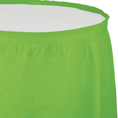 "Fresh Lime Plastic Tableskirt, 14' X 29"" by Creative Converting"