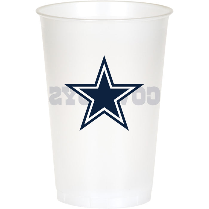 Dallas Cowboys Plastic Cup, 20Oz, 8 ct by Creative Converting