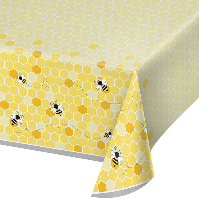 "Bumblebee Baby Plastic Tablecover All Over Print, 54"" X 102"" by Creative Converting"