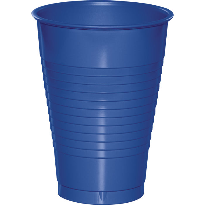 Cobalt Blue 12 Oz Plastic Cups, 20 ct by Creative Converting