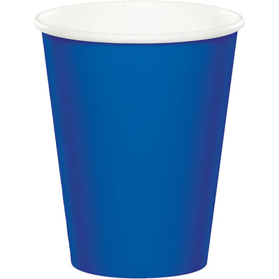 Cobalt Hot/Cold Paper Cups 9 Oz., 8 ct by Creative Converting