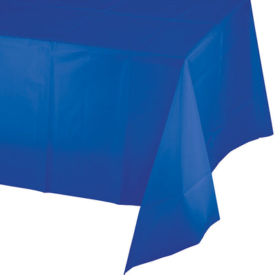 "Cobalt Plastic Tablecover 54"" X 108"" by Creative Converting"