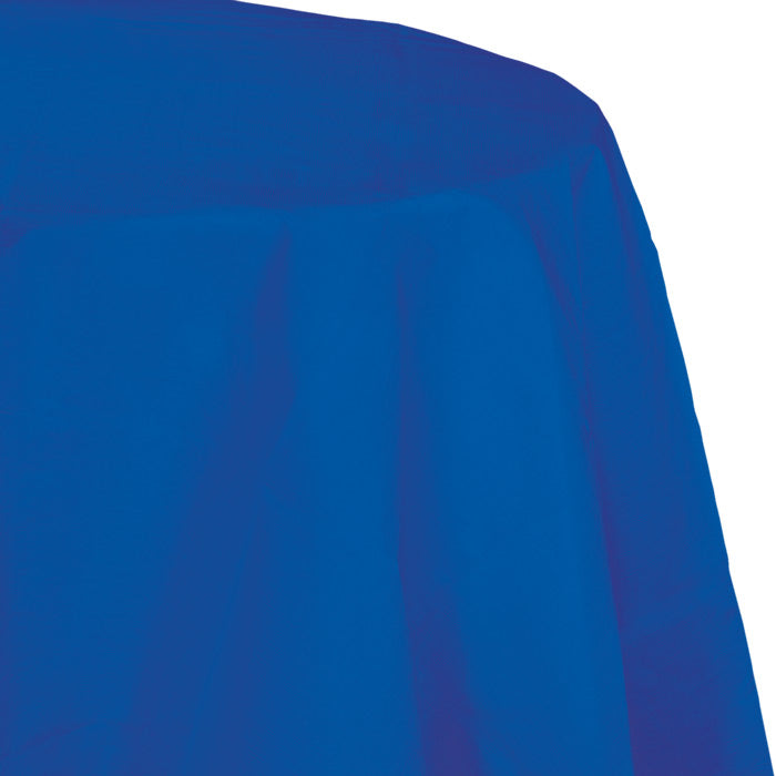 "Cobalt Tablecover, Octy Round 82"" Polylined Tissue by Creative Converting"