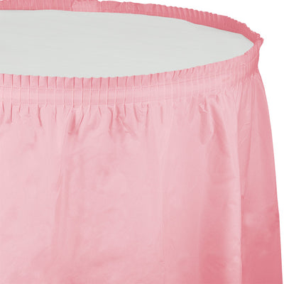 "Classic Pink Plastic Tableskirt, 14' X 29"" by Creative Converting"