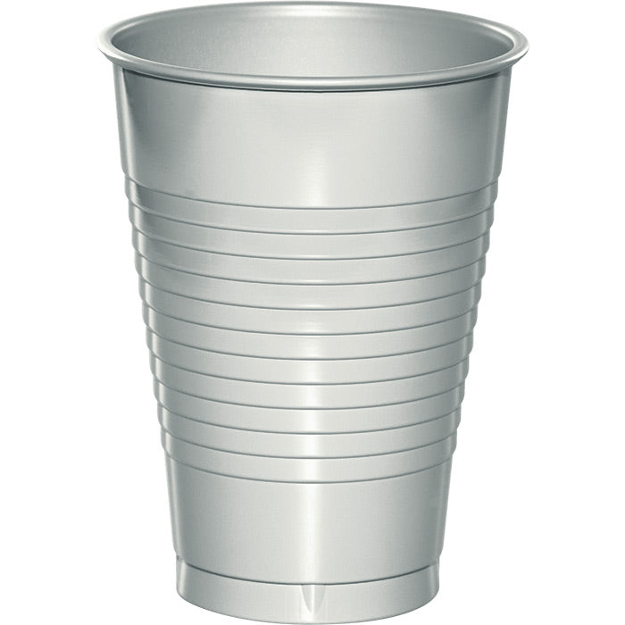 Shimmering Silver 12 Oz Plastic Cups, 20 ct by Creative Converting