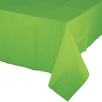 "Fresh Lime Tablecover 54""X 108"" Polylined Tissue by Creative Converting"