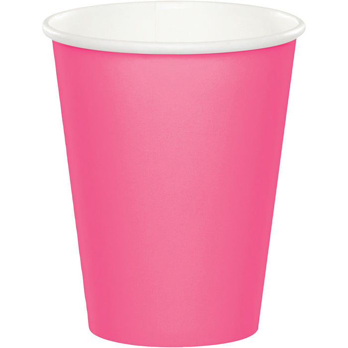 Candy Pink Hot/Cold Paper Cups 9 Oz., 8 ct by Creative Converting