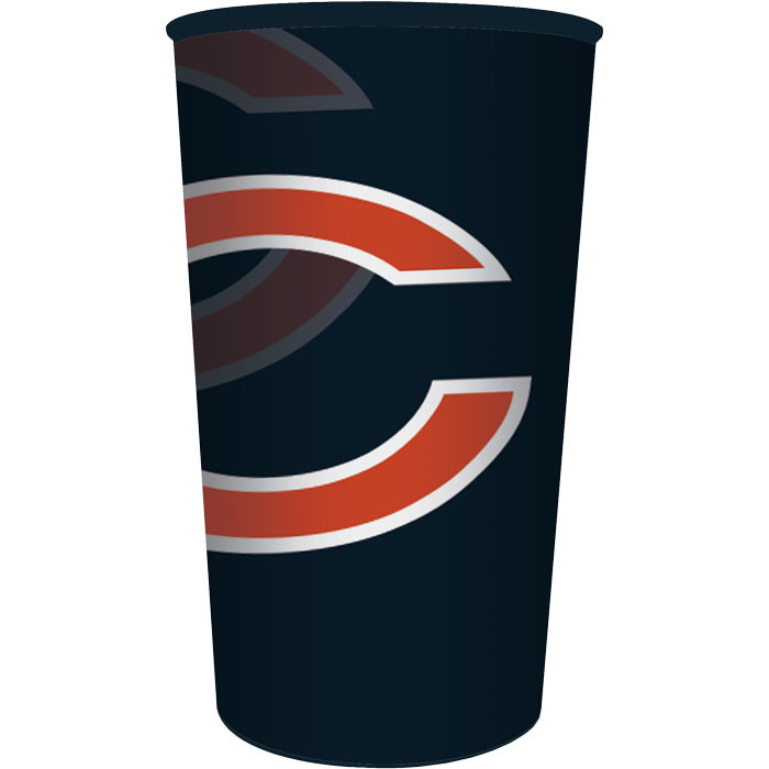 Chicago Bears Plastic Cup, 22 Oz by Creative Converting