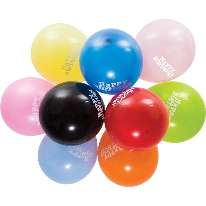 "Balloons, 12"" Asst Happy Birthday, 15 ct by Creative Converting"