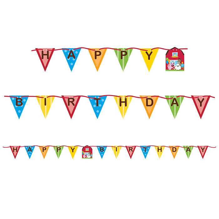 Farm Fun Ribbon Banner by Creative Converting