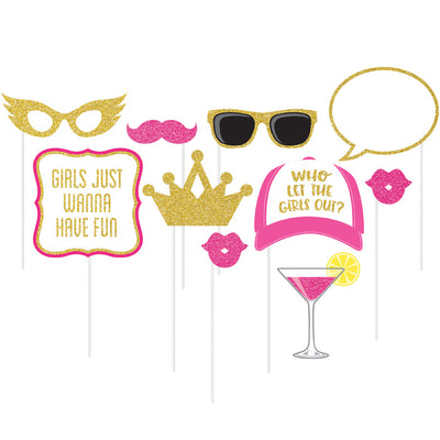 Girls Night Photo Booth Props, 10 ct by Creative Converting