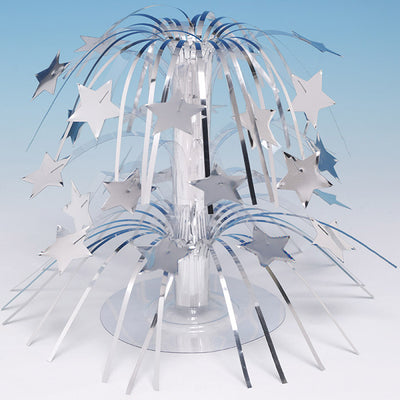 Silver Foil Cascading Centerpiece by Creative Converting
