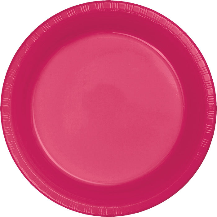 Hot Magenta Pink Plastic Banquet Plates, 20 ct by Creative Converting