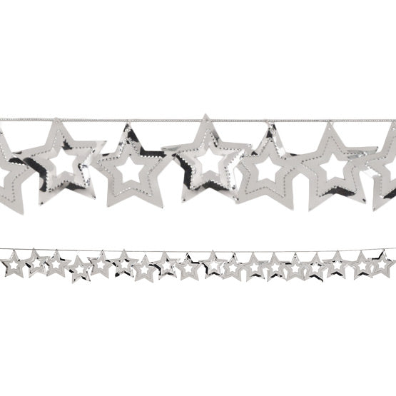 Silver Stars Foil Garland, 9 Ft. by Creative Converting