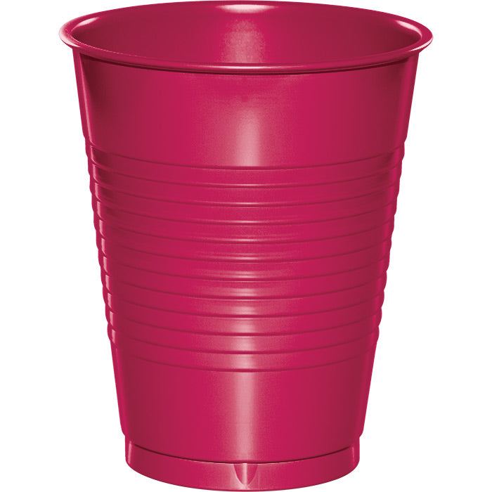 Hot Magenta Pink Plastic Cups, 20 ct by Creative Converting