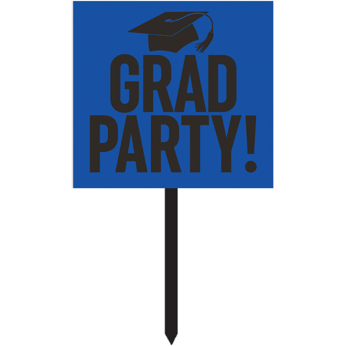Cobalt Blue Graduation Yard Sign by Creative Converting