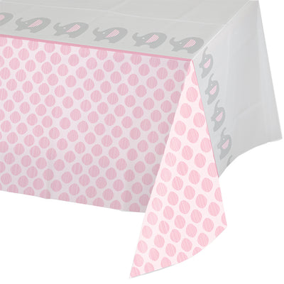 "Little Peanut - Girl All Over Prt Plastic Tablecover 54"" X 102"" by Creative Converting"